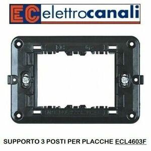 SUPPORTO 3 MODULI ECL4603F SERIE MY LIFE ELETTROCANALI