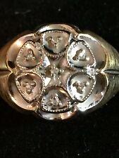 Vintage 10K Yellow Gold Men's Diamond Cluster Ring~Size 11~4.7 Grams