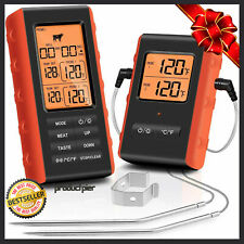 Best Digital Wireless Remote Meat Cooking Thermometer 2 Probes f/ Oven BBQ Grill