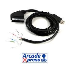 Cable RGB a Scart 15khz con USB 5V 12V Euroconector Jamma Arcade VGA para TV CRT
