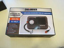 Portable Air Compressor 250/300 PSI 12 volt Car & Driver AC2133-BK black 7 min