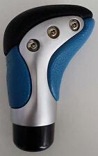 Echtleder Universal-Schaltknauf Leder Schalthebelknopf Blau - Schwarz TUNING