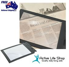 Magnifier Sheet Full A4 Page Magnifying Reading Aid Light Weight PREMIUM