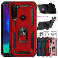 For Motorola Moto G Stylus Shockproof Holder Stand Case Cover+Belt Clip Holster