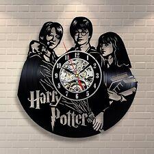 Harry Potter_Vinyl-Schallplatte Wohnkultur Wanduhr handgefertigt_Geschenk