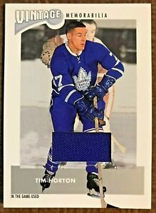 2002-03 BE A PLAYER IN THE GAME-USED VINTAGE MEMORABILIA PANTS TIM HORTON VM-13