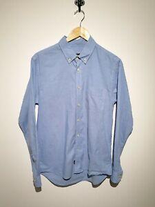 Pretty Green Size S Light Blue Long Sleeve Cotton Shirt Oxford Button Down