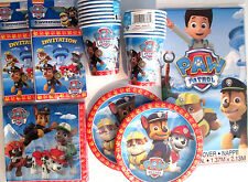 PAW PATROL -Nick Jr. Birthday Party Supply Pack Kit w/ Invitations