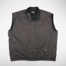 FOOTJOY DRYJOYS Half Zip Lined Wind Rain Golf Vest Jacket Houndstooth Mens XL