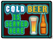 Beer metal sign funny great gift bar tavern pub mancave retro wall art 273