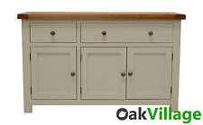 Painted Oak Large Sideboard / Storage Cupboard / Solid Wood Buffet / New Walcot