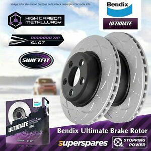 Bendix Front Disc Rotors for Ford Falcon BA BF FG X Territory SX SY SZ OD 322mm