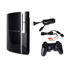 Playstation 3 Console Fat 40 Gb CECHG04 Nero + Cavo di Alimentazione + 3-Cinch +