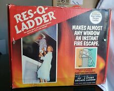 VINTAGE RES-Q-FIRE ESCAPE LADDER 25 inch 3 storey ladder made in usa