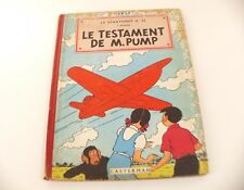 BD Jo, Zette et Jocko Le Testament de M. Pump 1952 B6 Hergé Casterman