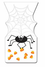 12 x Self Seal Halloween Loot Bags Spider Party Favour Bags FREE P&P