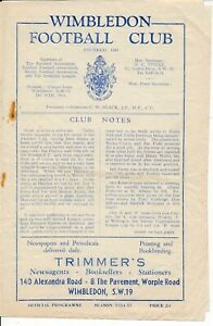 Wimbledon v Hendon (FA Amateur Cup) 1954/1955