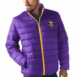 SKYBOX NFL G-111 Minnesota Vikings Lightweight Winter Puffer Jacket Coat Mens XL