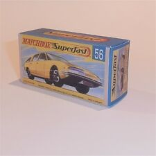 Matchbox Lesney Superfast 56 Bmc Pininfarina empty Repro G style Box