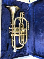BOOSEY AND HAWKES 400 CORNET IN HARD CASE 804091 bent bell