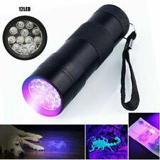 12 LED Lampe Torche UV Lampe de poche Lumière Noire Lampe Torche 395nm