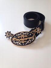 dsquared2 nuova cintura/belt serie Rodeo in pelle nera taglia S. rara!!
