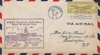 US  Airmail First Flight 1932 Columbia State House Slogan Stamp Cover Ref 48445