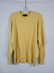 The Scotch House Cashmere Sweater Butter Yellow Men's Size 46
