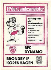 EC I 86/87 BFC Dynamo - Bröndby IF Kopenhagen, 05.11.1986