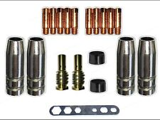 Verschleißteile MB14 / TBI 140 Gasdüse, Düsenstock MIG/MAG 0,9 Stromdüse