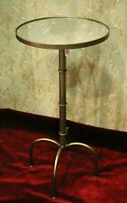 Clayre & Eef Side Table Gold Round Mirror Plate Modern Height 31 7/8in New