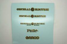 DECALS ATWATER KENT FADA GENERAL ELECTRIC PHILCO STEWART WARNER ZENITH EMERSON