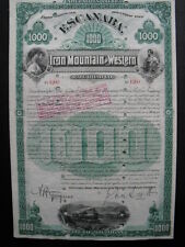 Escanaba Iron Mountain and Western Railroad 1890