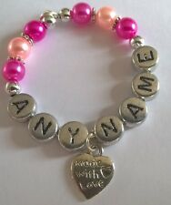 """Personalised """"Made with Love"""" Wine Glass Charms, Handmade for you"""