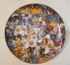 """Franklin Mint """"Kitchen Katastrophe"""" (Gold Medal-cats) By Bill Bell 8"""" Collector"""