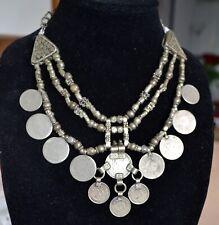 Yemenite Silver Necklace, Coin Necklace, Vintage Yemeni Necklace (Y27)