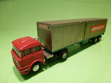 SHINSEI MINI POWER FIAT TUCK + EUROTRAILER 1:64 - RARE RARO - EXCELLENT COND.
