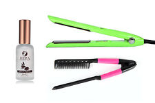 Hera Green Titanium Straightener, Comb, and Morrocan Argan Serum