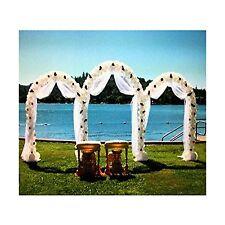 Adorox 7.5 Ft White Metal Arch Wedding Garden Bridal Party Deco... Free Shipping