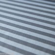 Jersey Stoff Blockstreifen Breite Streifen Grautöne