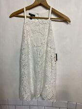 NWT Alfani Womans Size 10 White Lace Front Sleeveless Dress