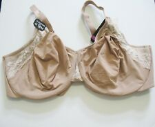 39c46f19a2 Olga Cloud 9 Full Figure 2 Ply Lace Trim Minimizer Bra Almond GI8961A Sz  38DD