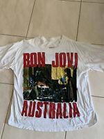 BON JOVI Vintage T-SHIRT  XL New Jersey 1989 Australia  Tour Authentic