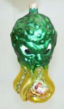 "Patricia Breen 9913 ""Help Santa!"" Green Octopus Submarine Sleigh Ornament, 1999"