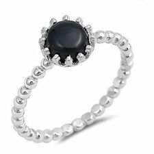 Onyx Stackable Stone Fashion Rings