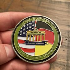 RARE US Diplomatic Security Service Special Agent Embassy Berlin Challenge Coin