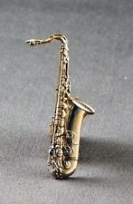 Metal Enamel Pin Badge Brooch Saxaphone Gold Sax Musician Orchestra Music Wind
