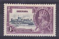 DB370) Grenada 1935 Jubilee 1/- slate & purple SG 148 with variety