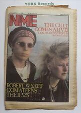 NEW MUSICAL EXPRESS NME - June 4 1983 - DEATH CULT / ROBERT WYATT / COMATEENS