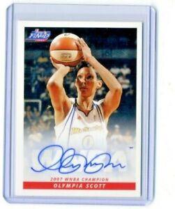 Olympia Scott 2008 WNBA Rittenhouse Archives Certified On Card Autograph Auto